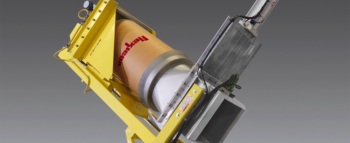 Flexicon: Dust-tight Drum Tipper for difficult Materials