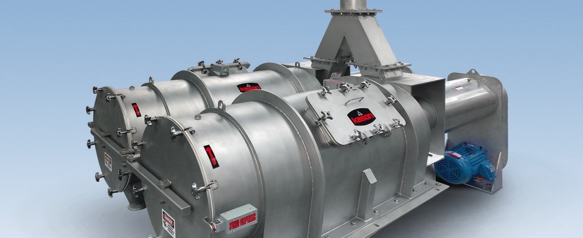 Kason: Twin In-Line Pneumatic Centrifugal Sifter cantilevers for quick Cleaning