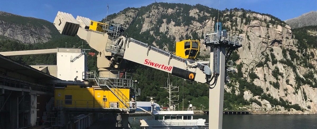Bruks Siwertell: Installation of Ship Unloader at Yara Fertilizer Terminal in Norway completed