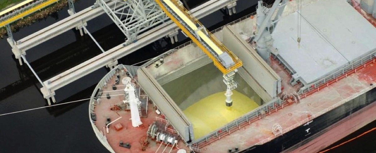 Bruks Siwertell: New Ship Loader to handle Sulfur Prills in the US Gulf Coast Region