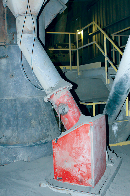 Can you go with the Flow Solids Flowmeters for Industrial Applications – Fig. 4: St. Marys Cement in Canada has been using the Siemens E-300 solids flowmeter for over two decades.