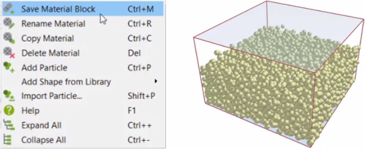 Recently acquired by Altair, EDEM 2020 includes new Tools for easier Bulk and Granular Material Simulation – A material block of particles can be automatically inserted into a simulation at regular time intervals to replicate the outflow from a physical system.