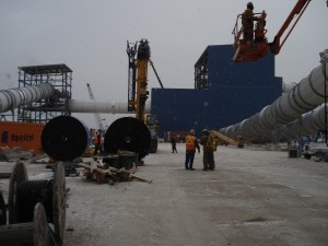 Construction at Victor Project in the harsh Canadian environment
